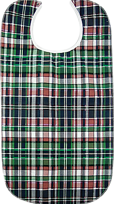Plaid/Vinyl Adult Clothing Protector