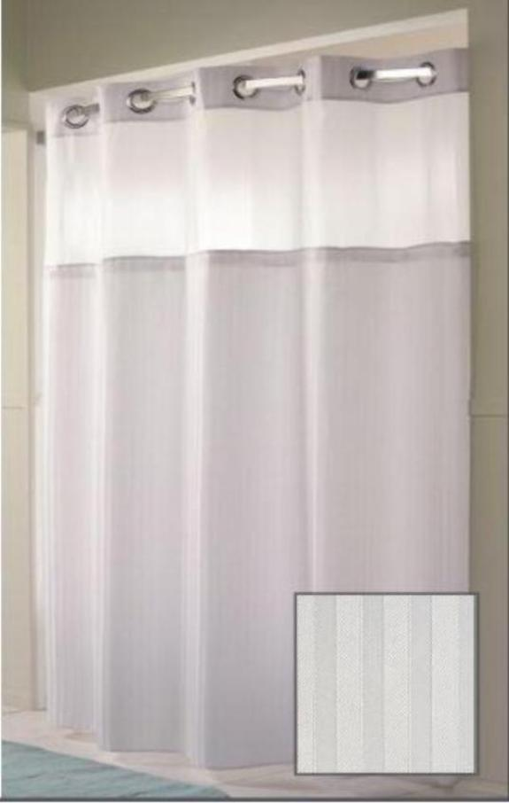 Double H Hookless Shower Curtain by Arcs & Angles