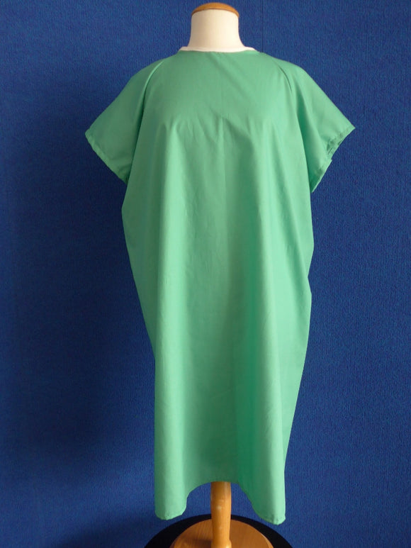 economy patient gown in jade green