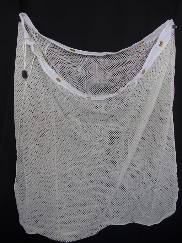 laundry net with grommets, cord and lock