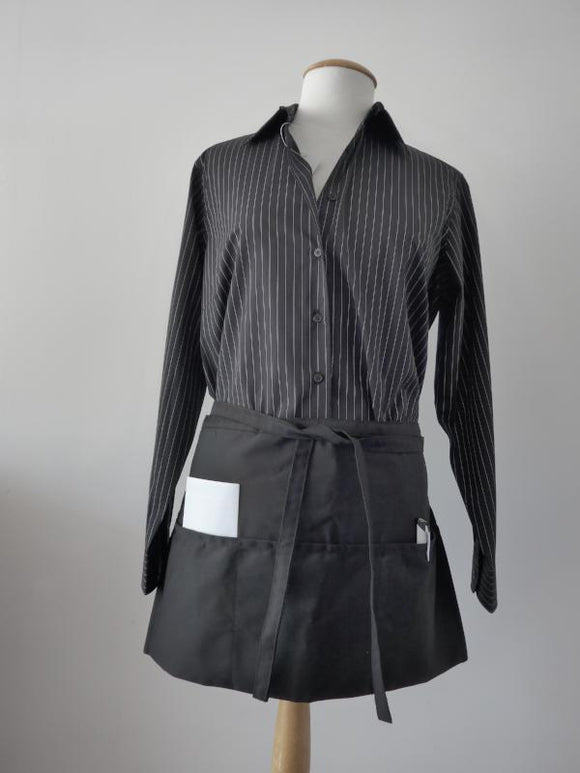 Server Apron with 3 pockets in black