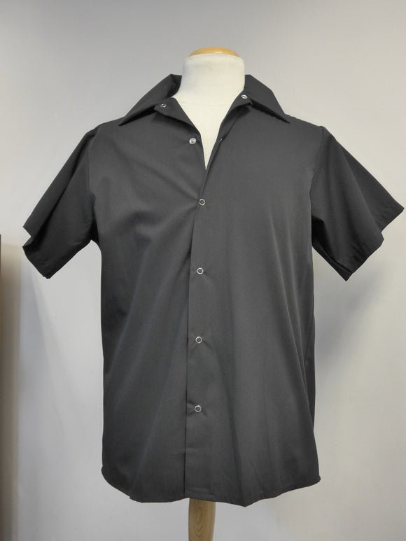 G270-S black cook shirt with snap