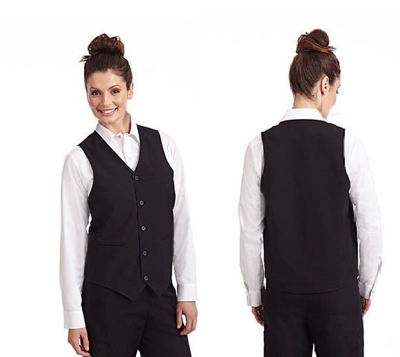 Unisex Waiters/Waitress Vest in black