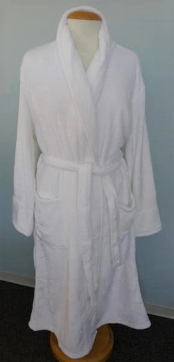 Shimmer Plush Bath Robe (shawl collar)