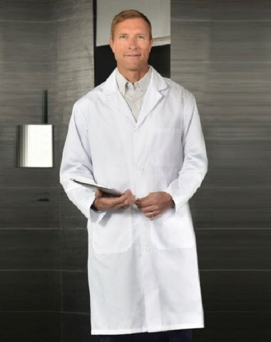 Cotton Lab Coat in white