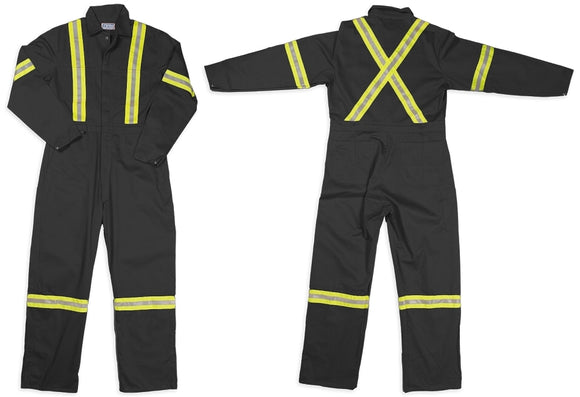 G-style 800R His Vis Cotton Coverall in Charcoal