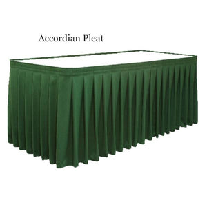 Accordian Pleat Tableskirting