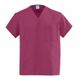 scrubs-Medline Angelstat Scrub Tops in Raspberry or Cranberry