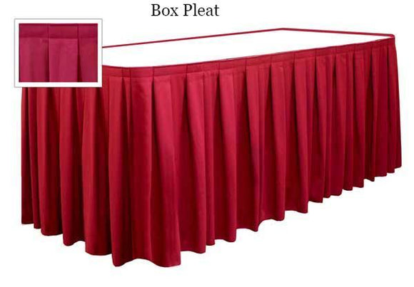 table skirts - Radius Display Box Pleat Tableskirting