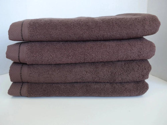 Diamond bath towel in chestnut brown