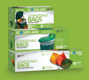 Ecosafe Compostable Garbage Bags retail packs