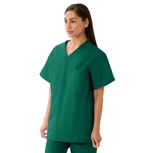 Medline Elitetex Scrub Top in Emerald Green
