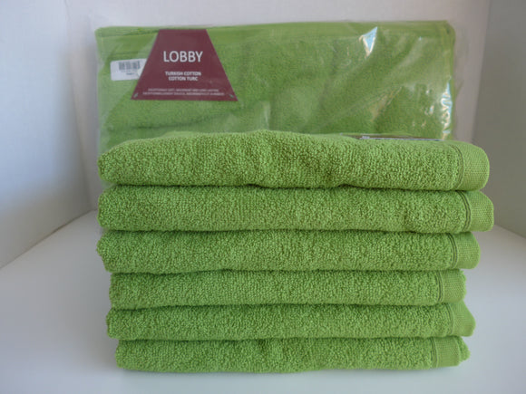 Lobby Hand Towels in Greenery