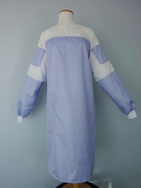 barrier lab coat, microfiber lab gown