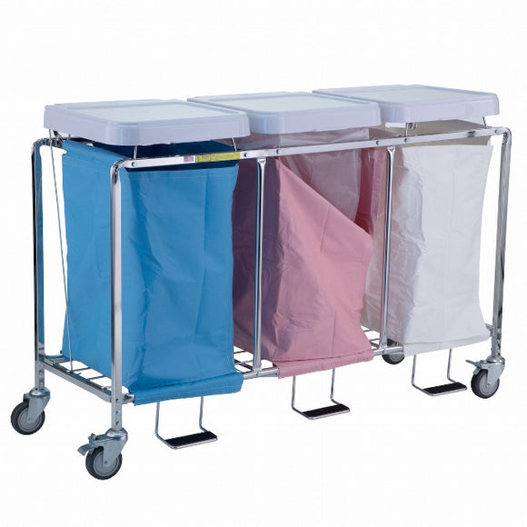 hamper stands-R&B Wire 676NB Triple Hamper Stand (no bags)