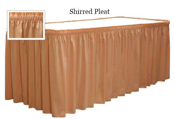 table skirts-Radius Display Shirred Pleat Table Skirting