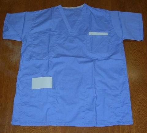 scrub tops, ciel blue, clearance
