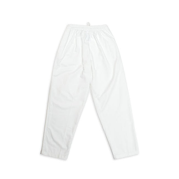 chef pant, bakers pant-White Rugby Pant