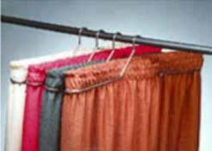 table skirts-Radius Display Chrome Tableskirting Hangers