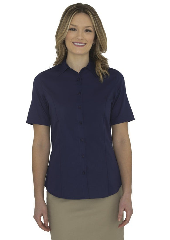 Coal Harbour L6021 Ladies Short Sleeve Shirt in True Navy