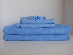 light blue economy towels