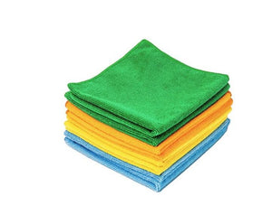 microfibre colored wipes