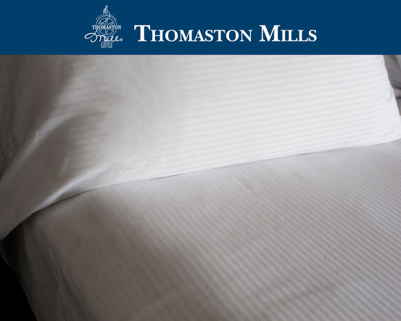 Thomaston sheets-Thomaston Mills T250 Royal Suite Satin Stripe Sheets