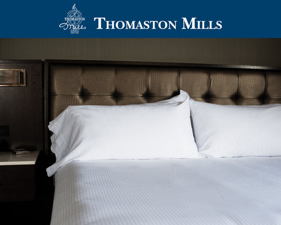 Thomaston sheets-Thomaston Mills T310 Royal Suite Striped Duvet Covers