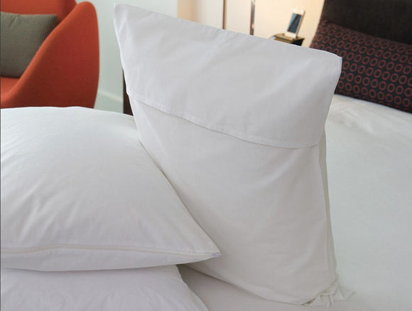 pillow protectors (zippered & flap)