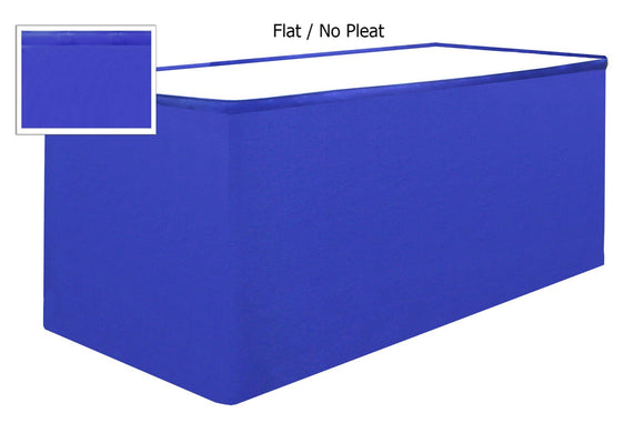 table skirts-Radius Display Flat No Pleat Tableskirting