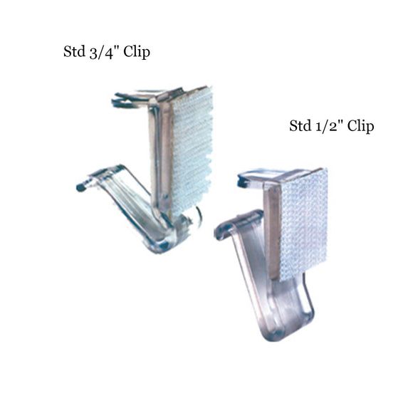 table skirts-Radius Display Standard Table Skirting Clips