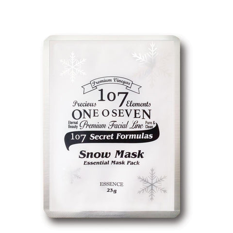107 One O Seven Snow Mask - Shop Amabie: For the best Korean beauty best, Korean skincare, Japanese beauty, Japanese skincare, Taiwanese beauty, Taiwanese skincare