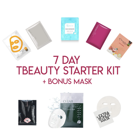 7 Day Mask Tbeauty Starter Kit + Bonus Mask - Shop Amabie: For the best Korean beauty best, Korean skincare, Japanese beauty, Japanese skincare, Taiwanese beauty, Taiwanese skincare
