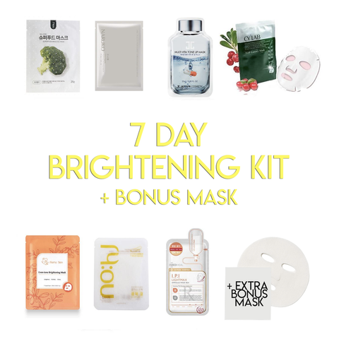 7 Day Mask Brightening Kit + Bonus Mask - Shop Amabie: For the best Korean beauty best, Korean skincare, Japanese beauty, Japanese skincare, Taiwanese beauty, Taiwanese skincare