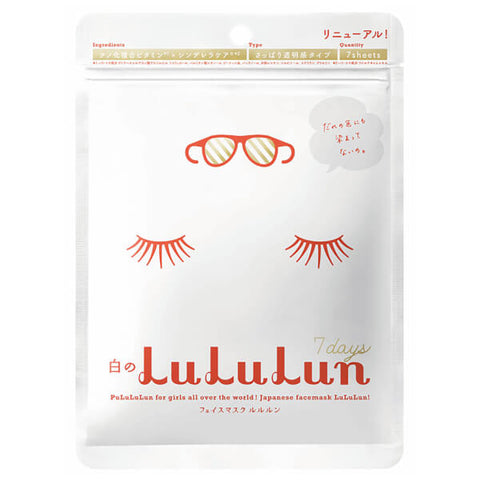 Lululun 7 Days Mask White (Whitening) (7 Masks)