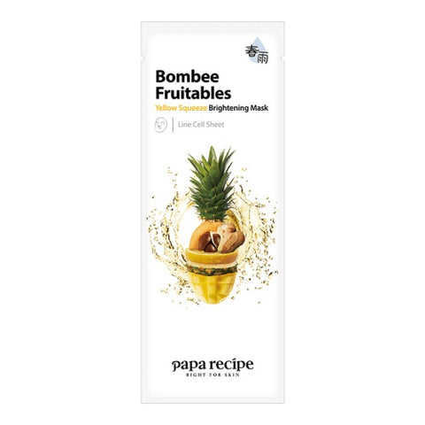 Bombee Fruitables Yellow Squeeze Brightening Mask - Shop Amabie: For the best Korean beauty best, Korean skincare, Japanese beauty, Japanese skincare, Taiwanese beauty, Taiwanese skincare