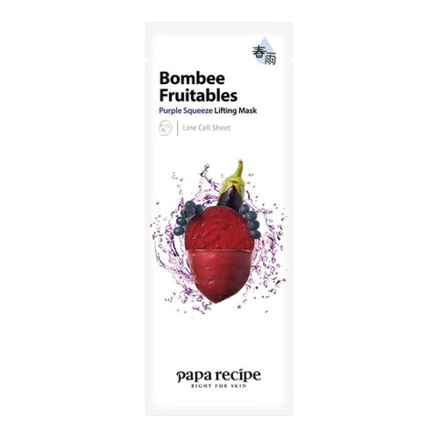 Bombee Fruitables Purple Squeeze Intensive Mask - Shop Amabie: For the best Korean beauty best, Korean skincare, Japanese beauty, Japanese skincare, Taiwanese beauty, Taiwanese skincare