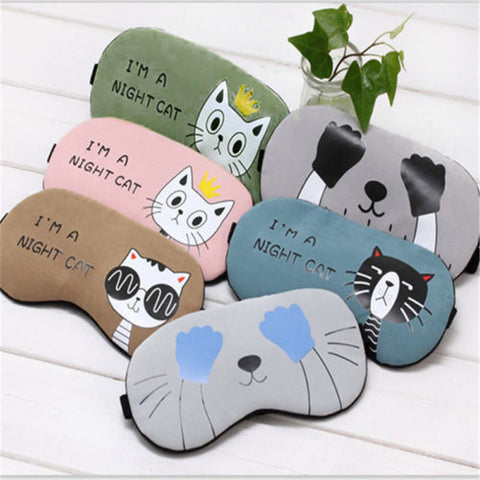 Scaredy Raccoon Night Cat Sleeping Eye Mask