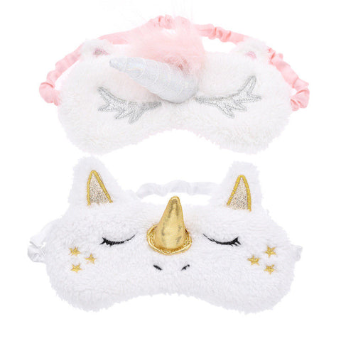 Unicorn Plush Sleeping Eye Mask