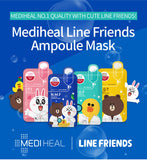 LINE Friends - N.M.F Aquaring Ampoule Mask - Shop Amabie: For the best Korean beauty best, Korean skincare, Japanese beauty, Japanese skincare, Taiwanese beauty, Taiwanese skincare