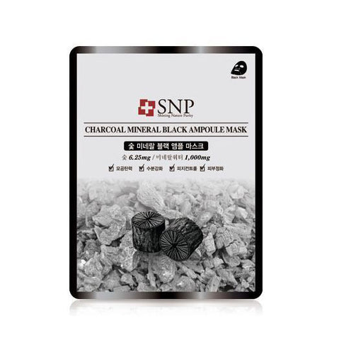 Charcoal Mineral Black Ampoule Sheet Mask - Shop Amabie: For the best Korean beauty best, Korean skincare, Japanese beauty, Japanese skincare, Taiwanese beauty, Taiwanese skincare