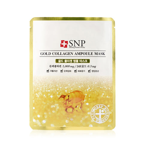 Gold Collagen Ampoule Mask - Shop Amabie: For the best Korean beauty best, Korean skincare, Japanese beauty, Japanese skincare, Taiwanese beauty, Taiwanese skincare