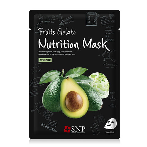 Fruits Gelato Nutrition Mask - Avocado - Shop Amabie: For the best Korean beauty best, Korean skincare, Japanese beauty, Japanese skincare, Taiwanese beauty, Taiwanese skincare