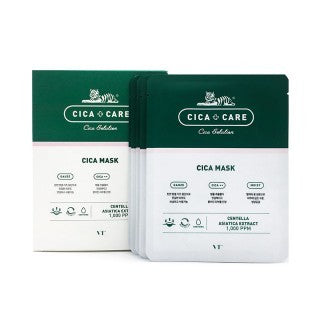 BOX SET Cica + Care Solution Mask - Shop Amabie: For the best Korean beauty best, Korean skincare, Japanese beauty, Japanese skincare, Taiwanese beauty, Taiwanese skincare