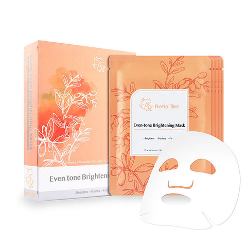 BOX SET Even-Tone Brightening Mask (5 Masks) - Shop Amabie: For the best Korean beauty best, Korean skincare, Japanese beauty, Japanese skincare, Taiwanese beauty, Taiwanese skincare