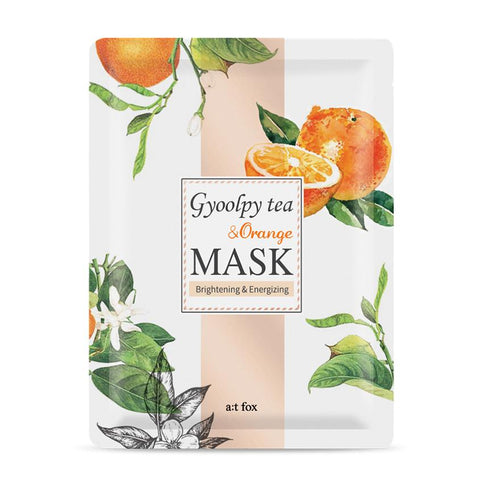 Gyoolpy Tea & Orange Mask: Brightening & Energizing - Shop Amabie: For the best Korean beauty best, Korean skincare, Japanese beauty, Japanese skincare, Taiwanese beauty, Taiwanese skincare