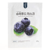 BOX SET Superfood Mask - Blueberry (10 Masks) - Shop Amabie: For the best Korean beauty best, Korean skincare, Japanese beauty, Japanese skincare, Taiwanese beauty, Taiwanese skincare