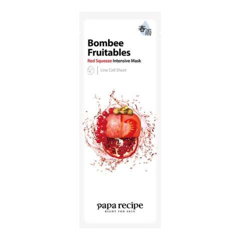 Bombee Fruitables Red Squeeze Intensive Mask - Shop Amabie: For the best Korean beauty best, Korean skincare, Japanese beauty, Japanese skincare, Taiwanese beauty, Taiwanese skincare