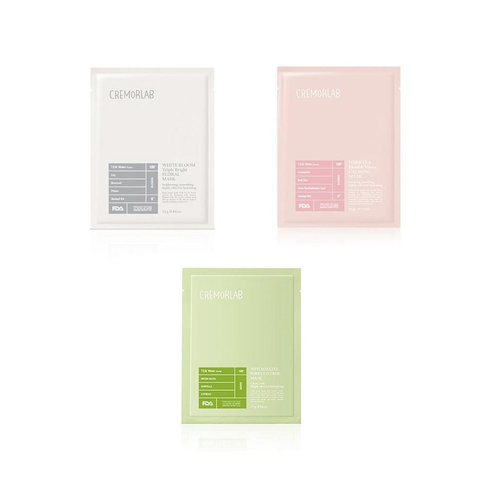Cremorlab Sheetmask Variety Set - Shop Amabie: For the best Korean beauty best, Korean skincare, Japanese beauty, Japanese skincare, Taiwanese beauty, Taiwanese skincare