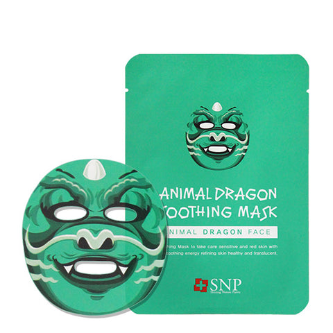 Animal Character Mask - Dragon - Shop Amabie: For the best Korean beauty best, Korean skincare, Japanese beauty, Japanese skincare, Taiwanese beauty, Taiwanese skincare